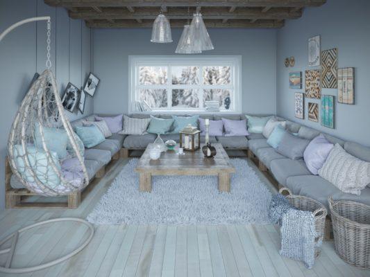 Salon architecture et décoration d'intérieur.