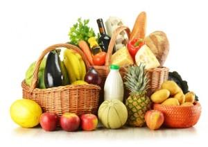 courses panier fruits légumes fromages