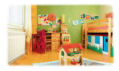 chauffage electrique Aterno dans une chambre d'enfant
