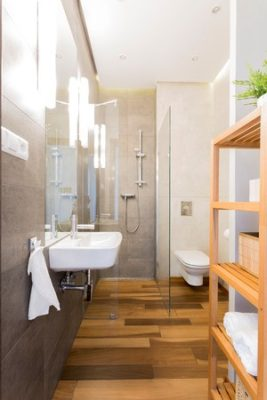 Salle de bain en longueur