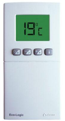 Thermostat réglé sur 19°C.